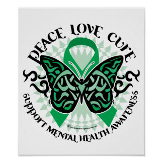 Mental Health Tribal Butterfly Posters