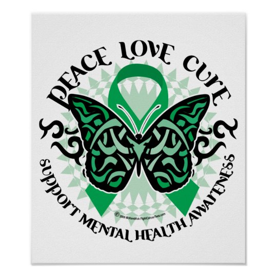 Mental Health Tribal Butterfly Poster