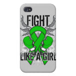 Mental Health Ultra Fight Like A Girl Cases For iPhone 4