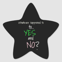 Mental Health YES or NO Star Sticker