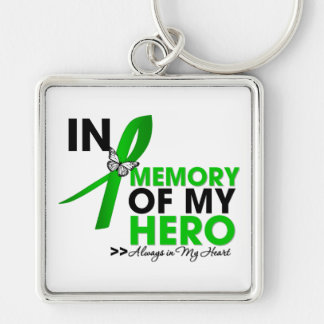 Mental Heath Tribute In Memory of My Hero Silver-Colored Square Keychain