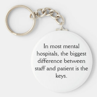 Mental Hospital Keychain