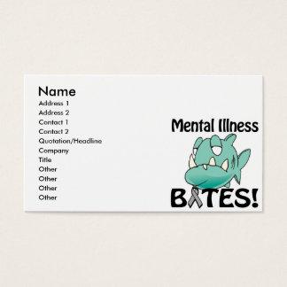 Mental Illness BITES (gray) Business Card