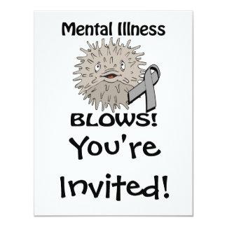 Mental Illness Blows Grey Awareness Design Card