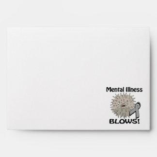 Mental Illness Blows Grey Awareness Design Envelopes