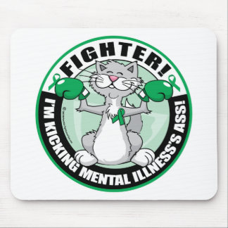Mental Illness Cat Fighter Mouse Pad