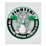 Mental Illness Cat Fighter Posters