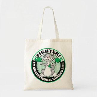 Mental Illness Cat Fighter Tote Bag