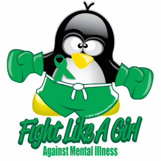 Mental Illness Fighting Penguin Cutout