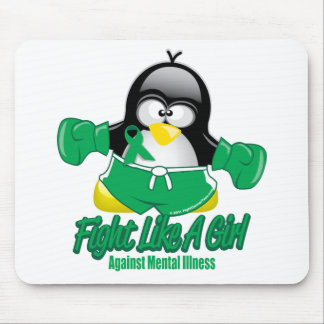 Mental Illness Fighting Penguin Mouse Pad