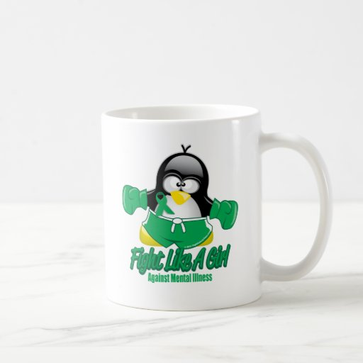 Mental Illness Fighting Penguin Mug