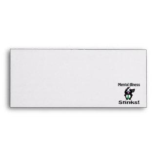 Mental Illness Stinks Skunk Green Awareness Design Envelopes