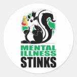 Mental Illness Stinks Stickers