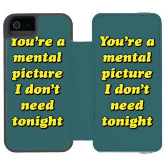 MENTAL PICTURE iPhone SE/5/5s WALLET CASE