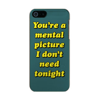 MENTAL PICTURE METALLIC PHONE CASE FOR iPhone SE/5/5s