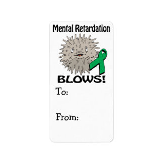 Mental Retardation Blows Awareness Design Label