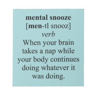 MENTAL SNOOZE MEMO NOTE PADS