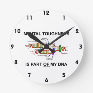 Mental Toughness Is Part Of My DNA Round Clock