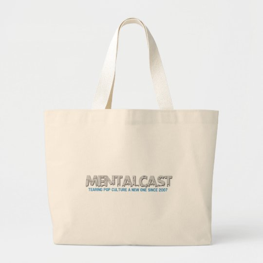 MentalCast Tearing Pop Culture a New One Large Tote Bag