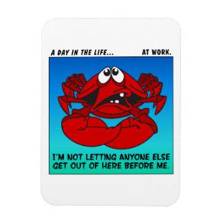 Mentalidad del cangrejo en el trabajo iman flexible