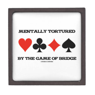 Mentally By The Game Of Bridge (Humor) Premium Jewelry Boxes