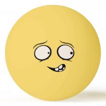 Mentally Deranged Funny Face Ping Pong Ball