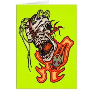 Mentally Insane Cyborg Skull Card