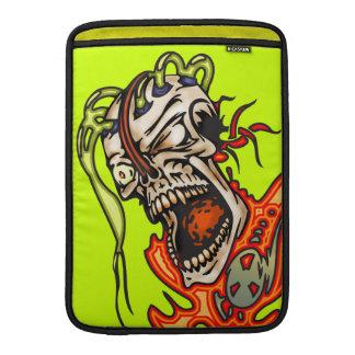 Mentally Insane Cyborg Skull MacBook Air Sleeve