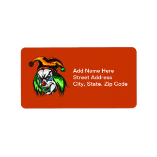 Mentally Insane Evil Clown Personalized Address Labels