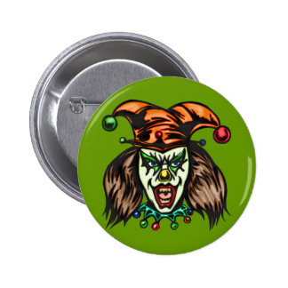 Mentally Unstable Evil Clown 2 Inch Round Button