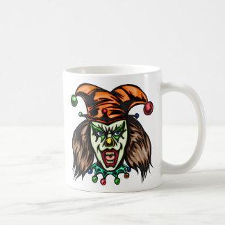 Mentally Unstable Evil Clown Classic White Coffee Mug