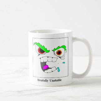 Mentally Unstable Classic White Coffee Mug