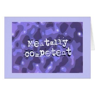 Mentalmente - competente… tarjeta pequeña