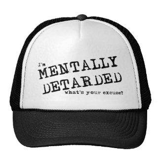 Mentalmente humor divertido del gorra de Deatarded
