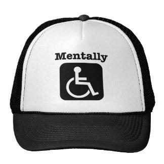Mentalmente - lisiado. gorras