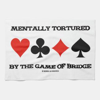 Mentalmente por The Game del puente (humor) Toallas De Mano