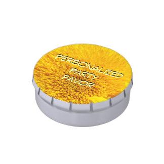 Mentas amarillas personalizadas del girasol de los frascos de caramelos