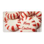 Mentas de las Felices Navidad Etiquetas De Envío