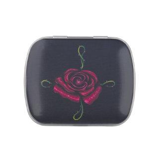 Mentas del Belly de la jalea del rosa rojo Frascos De Dulces