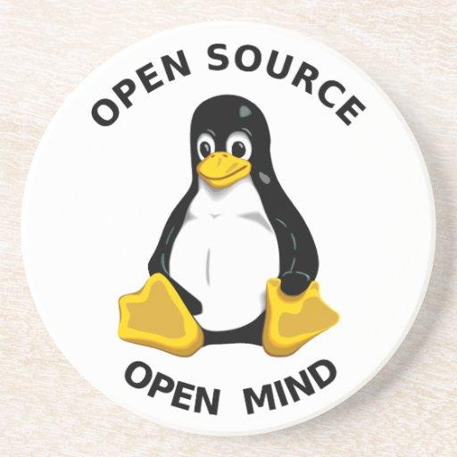 Mente abierta de Open Source Posavasos Cerveza
