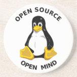 Mente abierta de Open Source Posavasos Diseño