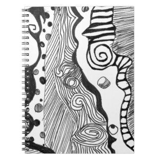 Mente abstracta libro de apuntes con espiral