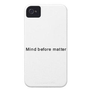 Mente antes de la materia Case-Mate iPhone 4 fundas