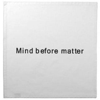 Mente antes de la materia servilletas de papel