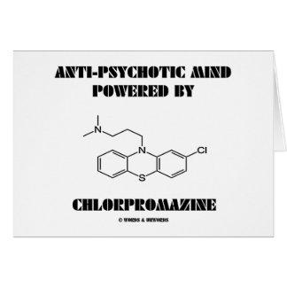 Mente antipsicótica accionada por la clorpromacina tarjeta de felicitación