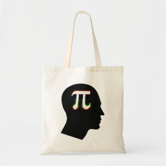 Mente colorida del pi - bolso de la matemáticas bolsa tela barata
