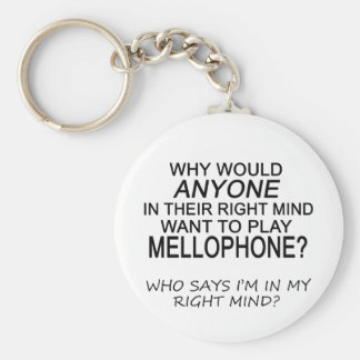 Mente correcta Mellophone Llaveros