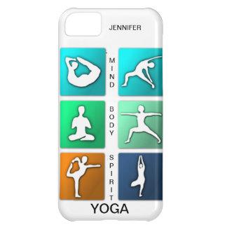 Mente, cuerpo, caso del iPhone de la yoga del alco Carcasa iPhone 5C