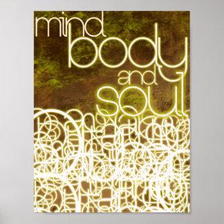 Mente cuerpo y alma por Mansa Pryor Impresiones