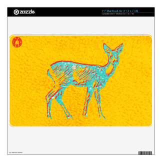 Mente de los ciervos 27,9cm MacBook air calcomanía